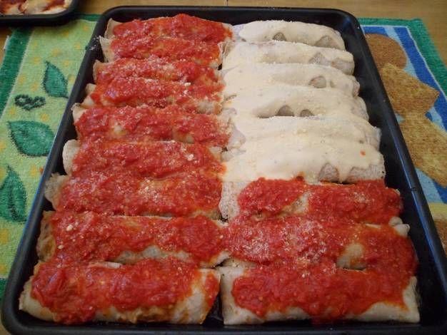 Canelones Rellenos De Verdura Receta Canelones Rellenos Verduras Y Recetas Para Cocinar