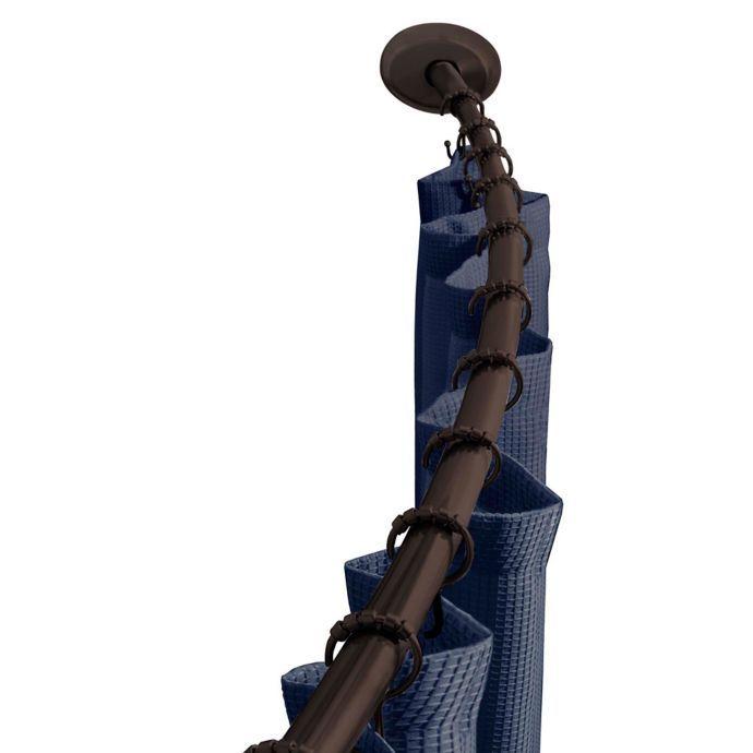 Titan Neverrust Aluminum Single Curved Shower Rod Shower Rod