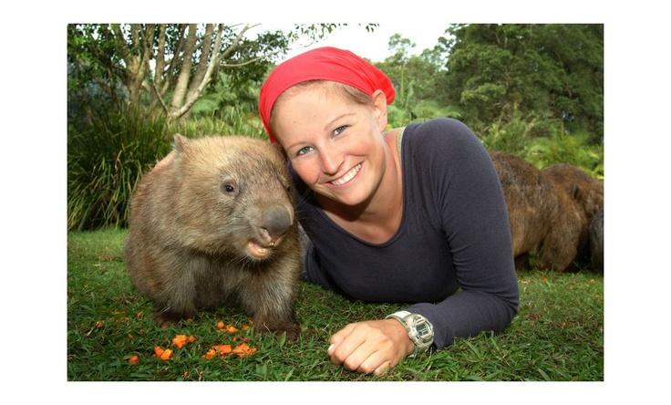 Smiley Lady with Wombat