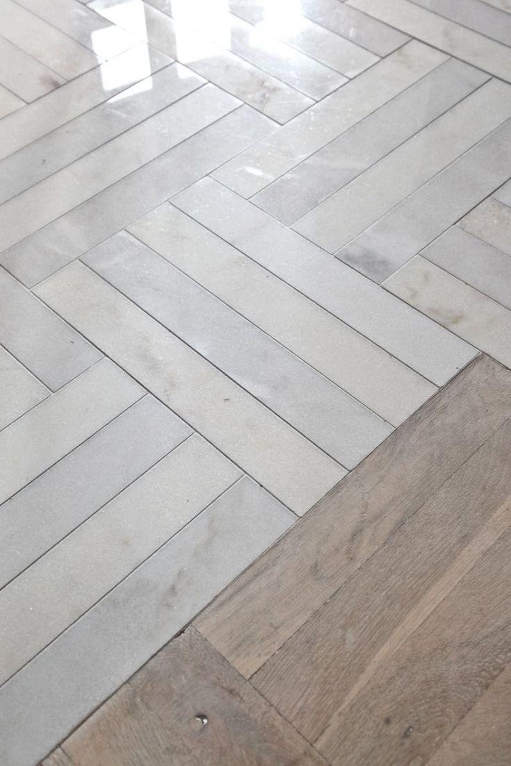 Herringbone marble floor. #interiors