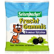Seitenbacher Fruchtgummi Brombeer Kätzchen, 6er Pack (6 x 85 g)