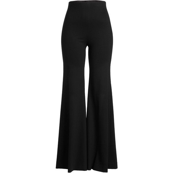 Rosetta Getty Flared Pants ($1,095) ❤ liked on Polyvore featuring pants, black, rosetta getty, flared pants, flared trousers, flare trousers and flare pants