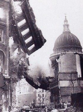 St. Paul's Cathedral, London. Look what restoration had to be done after the…