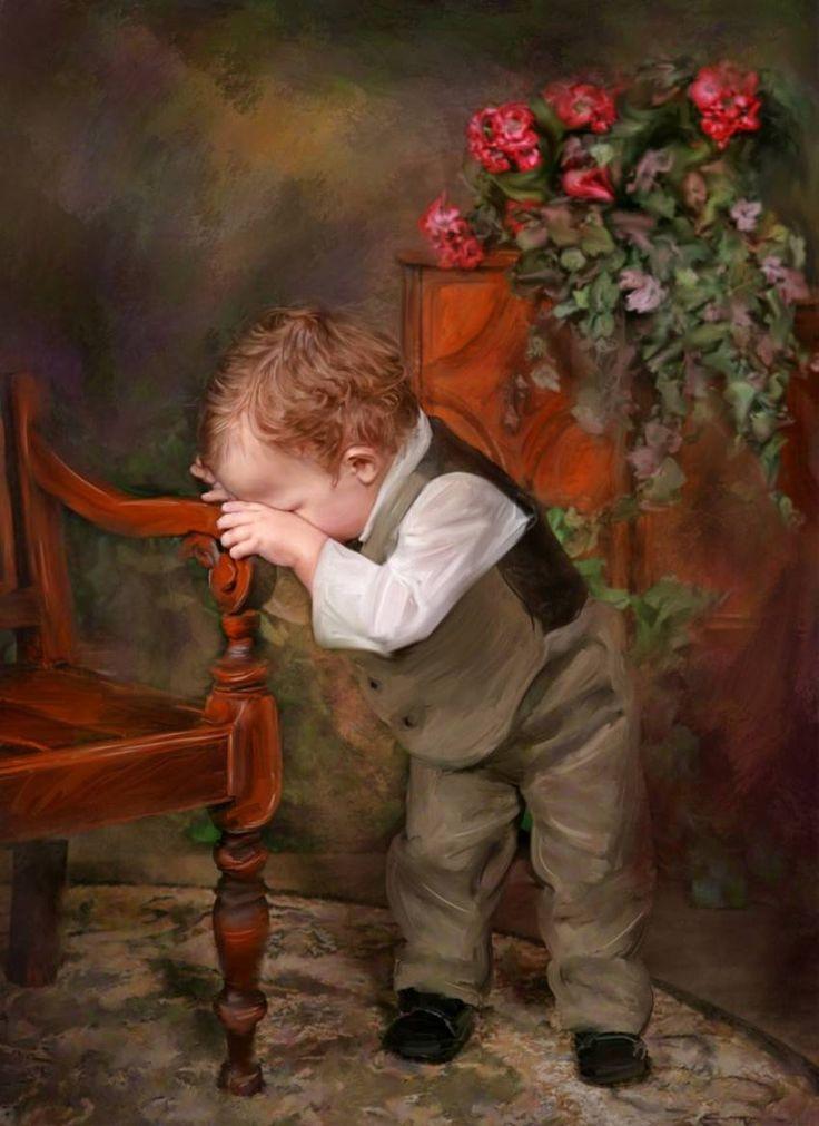 I ritratti di bambini di Richard Ramsey pittura digitale