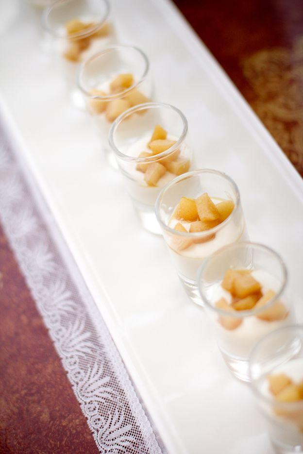 finger food | bicchierini pere e gorgonzola