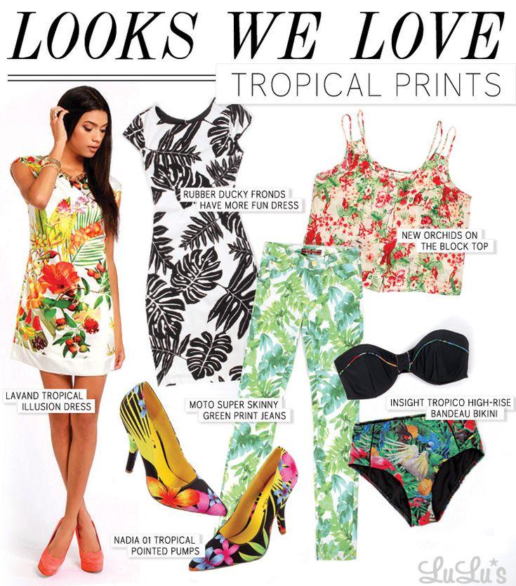 Looks We Love: Tropical Print - Lulus.com Fashion Blog