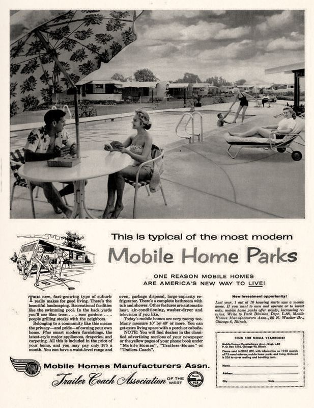 Mobile Homes Manufacturers Association 1958