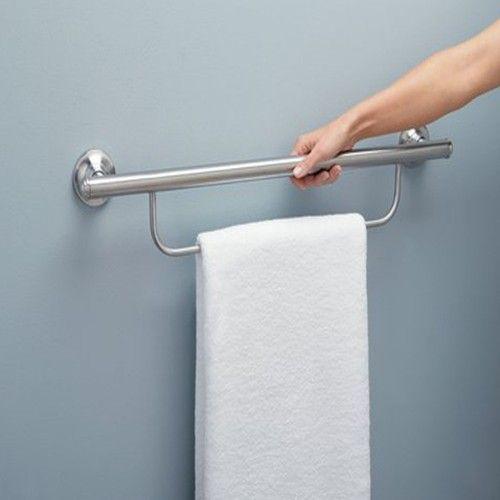 Moen Bathroom Safety Grab Bar with Towel Bar  ZBathroom