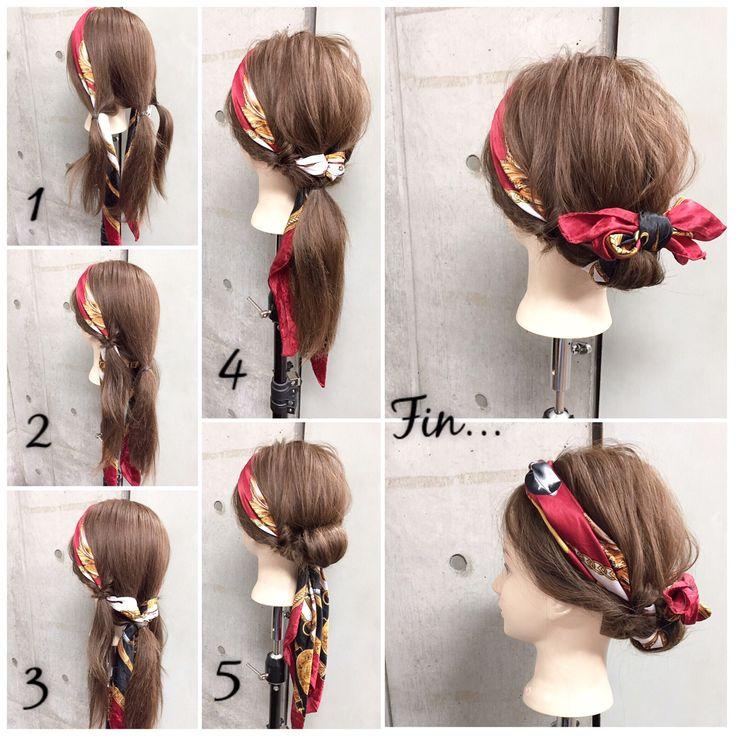 簡単で可愛い?自分でできるヘアアレンジ✨ ロングのスカーフアレンジ? トリプルくるりんぱ✖︎スカーフミックスの自分だけのオシャレを楽しむデイリーstyle✂︎ ・ ・ ゴム3本.ピン2本 所有時間10分 1.3つに毛束を分けてそれぞれゴムで結び、左右の結び目にスカーフを通します。 2.左右の毛束をくるりんぱ。 3.スカーフの両端を真ん中の毛束の結び目に通します。 4.真ん中の毛束もくるりんぱして3つの毛束を1つに結びます。 5.結んだ毛束を外巻きにくるくるとシニヨン状にピンで2カ所留めます。 Fin.スカーフをシニヨンに上で結び。リボン調に整えたら完成です? ・ *アレンジリクエストお待ちしてます* ・ 吉祥寺 LinobyU-REALM リノバイユーレルム ?0422272131 東海林翔太