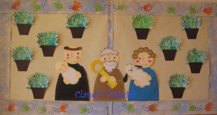 Painel santos populares: manjericos