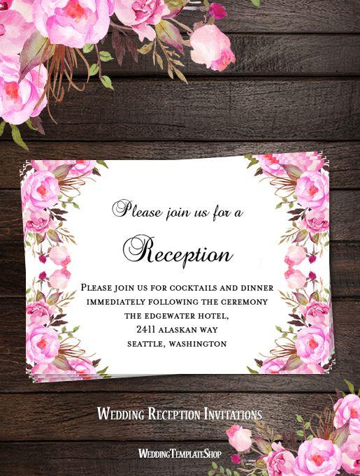 167 best Wedding Invitations DIY, Printable Templates images on - microsoft templates invitations
