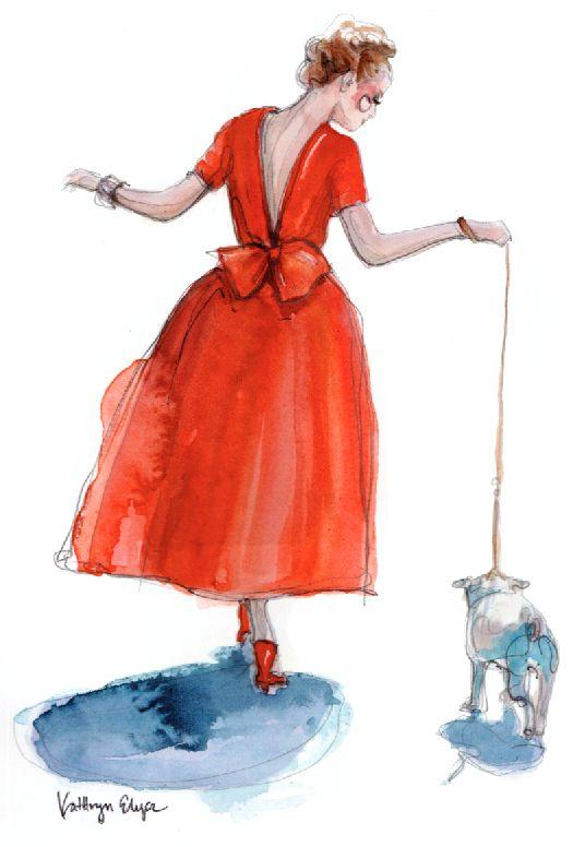 Red Valentino / paperfashion.netKaty Rodgers, De Paperfashion, Drawing Art, Red Valentino, Paper Fashion, Art Prints, Valentino Art, Fashion Illustration, Paperfashion Nets