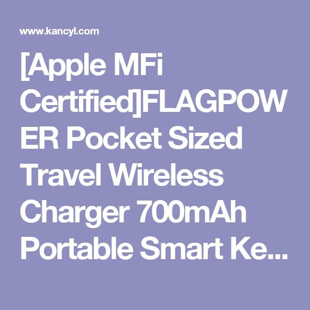 [Apple MFi Certified]FLAGPOWER Pocket Sized Travel Wireless Charger 700mAh Portable Smart Keychain Power Bank Power Charger Power Pack for iwatch Apple Watch Series 2/ Series 1/ Nike+ (Golden)