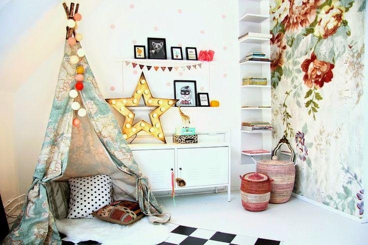 画像 : 【DIY】木と布で作る子供が喜ぶ素敵なテント「Teepee(ティピー)」の作り方とインテリア例 - NAVER まとめ