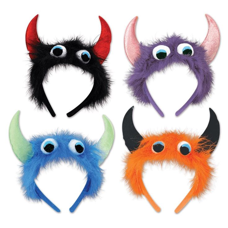 monster headbands assorted colors qty of halloween costume accessories - Accessories For Halloween Costumes