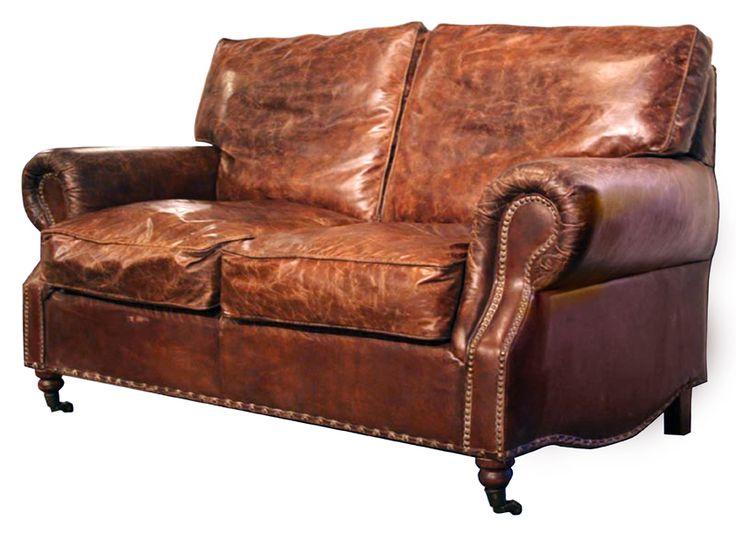 Vintage Leather Kent Sofa 2 Seater Vintage Leather