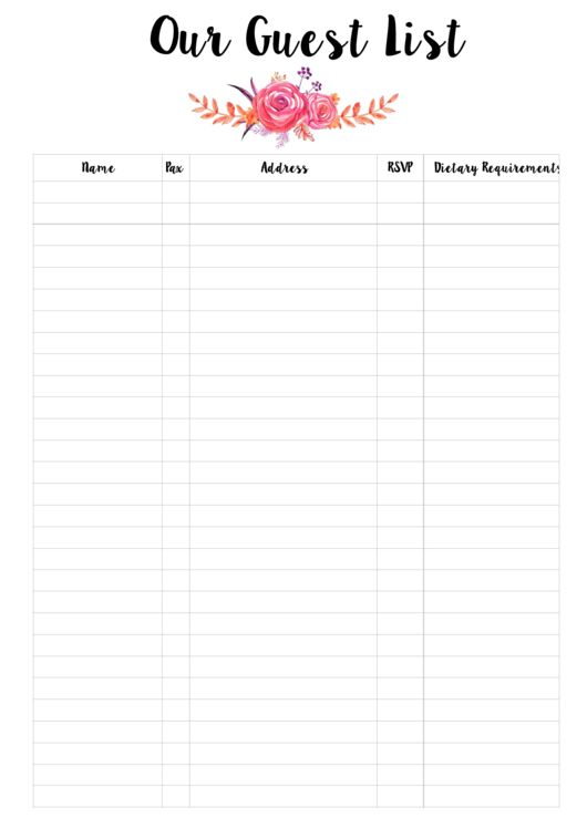 Best 20+ Party food list template ideas on Pinterest - printable wedding guest list template