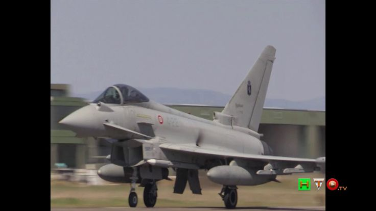 """Partenza caccia Eurofighter per l'Islanda - Operazione NATO """"Northern Ic..."""