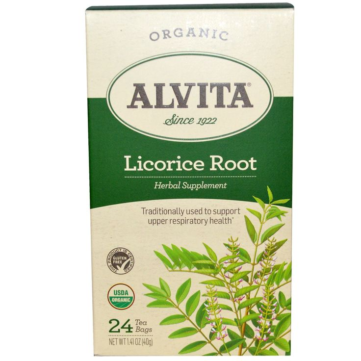 Alvita Teas, Organic Licorice Root, Caffeine Free, 24 Tea Bags, 1.41 oz (40 g)
