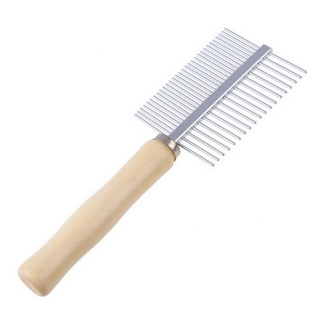 Multi-usage Stainless Steel Pet Dog Cat Combs Long Thick Hair Fur Shedding Remove Rake Comb Pet Grooming Brush 17 X 7cm