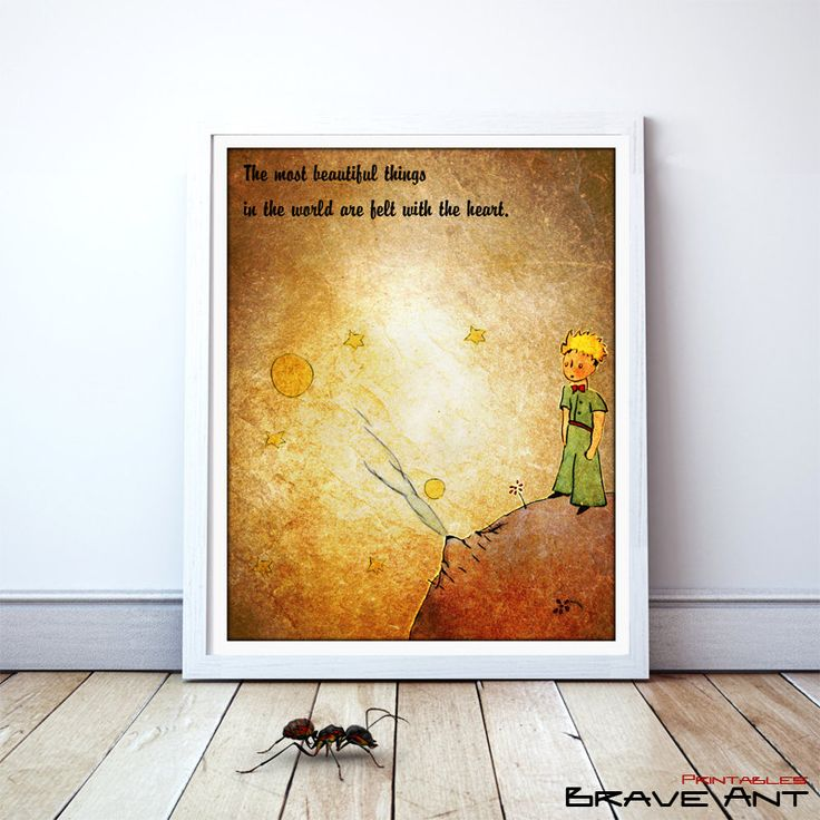 Little Prince, The Little Prince, Le Petit Prince, Quote Print, Printables, wall decor, Quote poster, nursery, Instant Download - pinned by pin4etsy.com