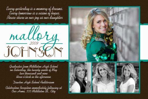 2011 High School Graduation Invitation Card-Graduation, Preschool graduation, high school graduation, college graduation