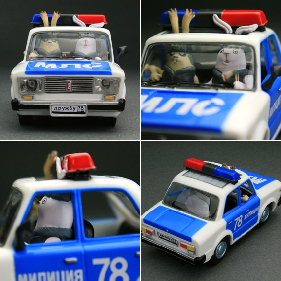 Usavich Rabbit Pull Back Toy Police Car Japan MTV RARE Cute | eBay