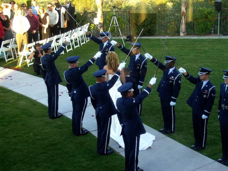 Color guard wedding