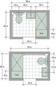 43 ideas bathroom layout 5x8 floor plans #bathroom ...