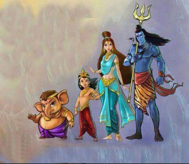 189 Best Images About Shiv Parvati & Family On Pinterest