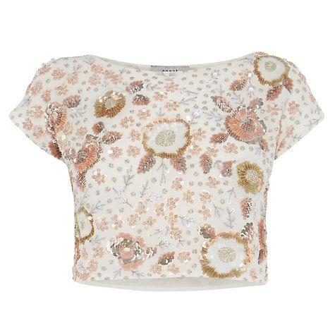 Buy Coast Adaria Embellished Top, Blush Online at johnlewis.com