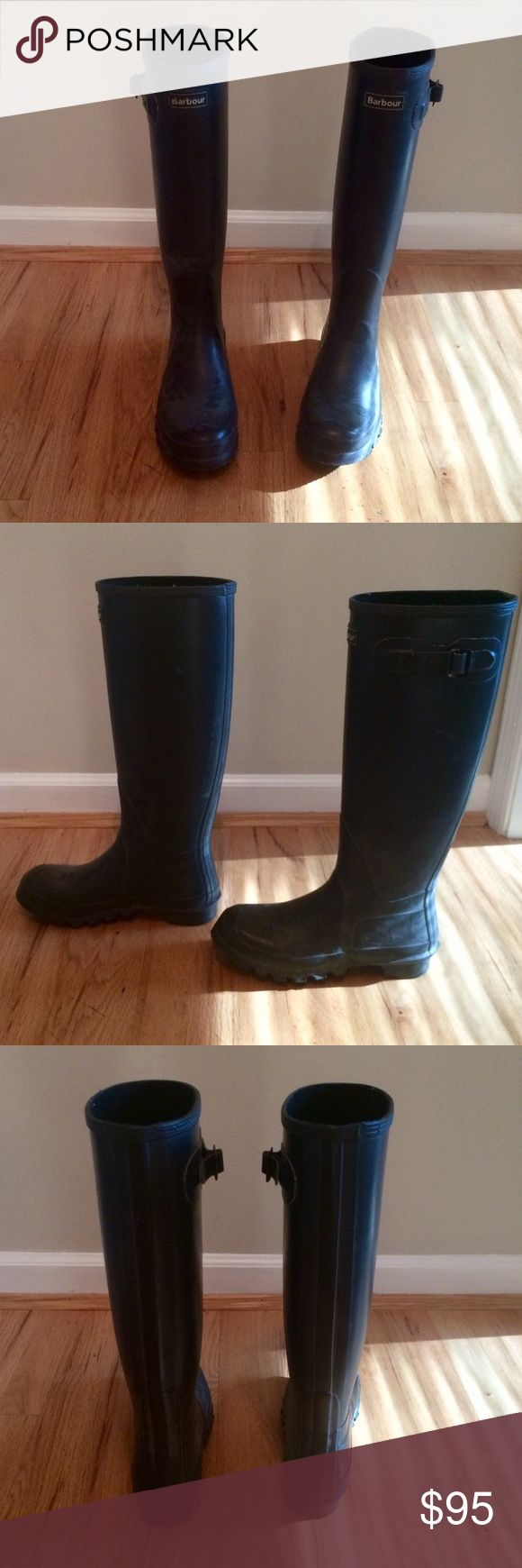 Barbour Wellies Navy Blue Barbour boots. Worn gently only in the rain. Fits size 8-8.5. Excellent condition. Barbour Shoes Winter & Rain Boots