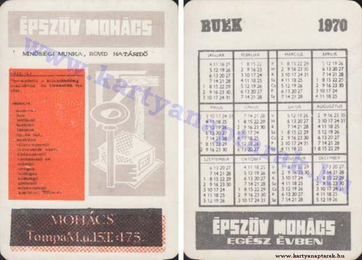 1970 - 1970_0445 - Régi magyar kártyanaptárak