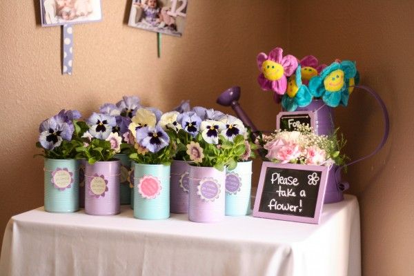 Spring-themed First Birthday Party Favors, see more first birthday party ideas at http://www.eventcrush.com/addys-first-birthday-party/