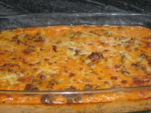 LCHF-Recept: Köttfärs & bacongratäng