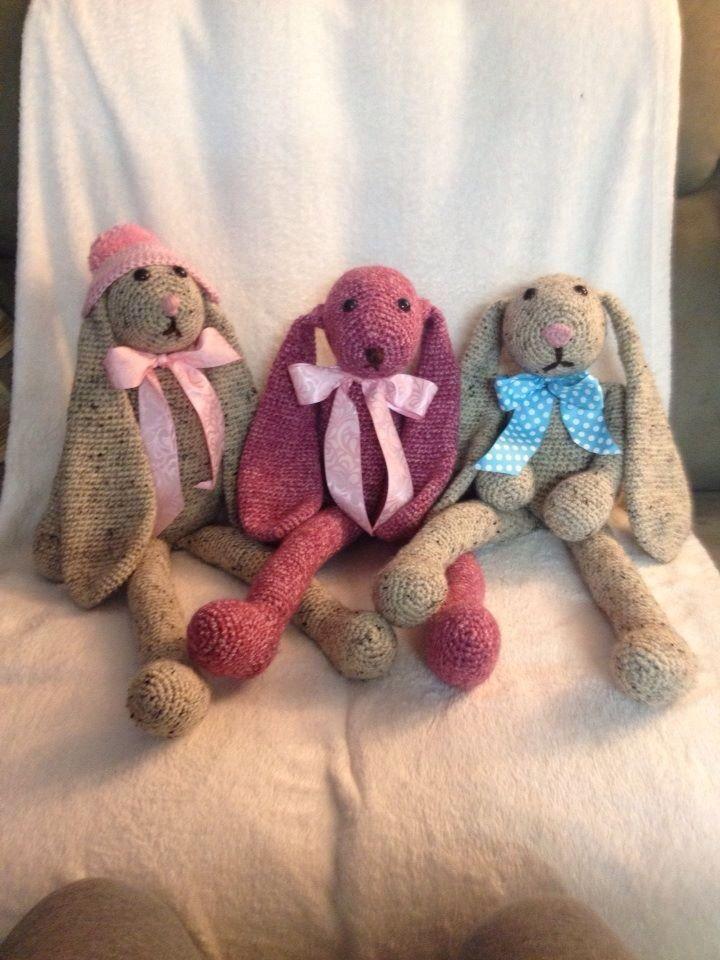 Adorable crocheted bunnies