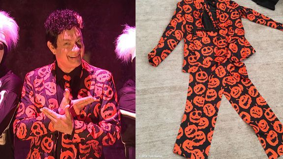 Tom Hanks is dressing up as David Pumpkins for Halloween. Any questions?