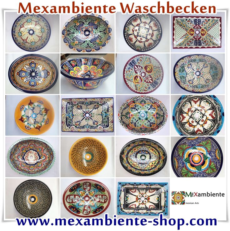 Mexikanische Waschbecken 2014 von Mexambiente - Bunte Waschbecken, handbemalte…