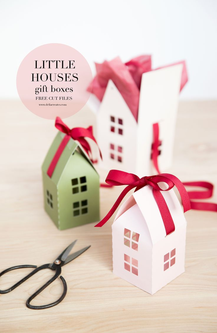 Little House Gift Box - Free Cut Files // www.deliacreates.com #Sponsored