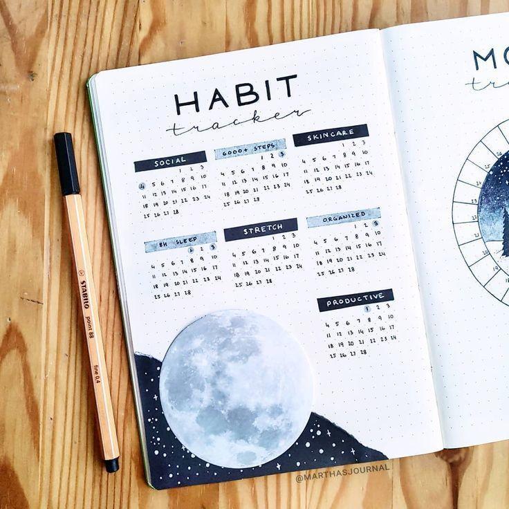 """🌸 Martha 🌸 auf Instagram: """"Habit Tracker für Februar und ein winziger"""