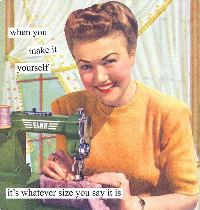 Size shouldn't matter! It is just a number. And remember, size had changed throughout history (in sewing patterns), so even though you might be a '12' in modern clothing, in 1940s-1950s patterns, you would be a '16-18'. Accept and love your body for the amazing things it can do.