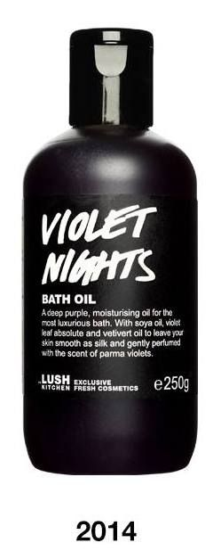 Violet Nights LUSH COSMETICS KITCHEN FRESH Ltd. Ed. Bath Oil Review-http://theartofoptions.com/