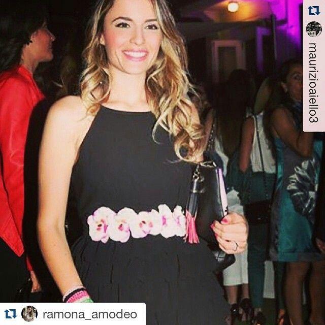 Ramona Amodeo sceglie l'abito Bruxelles #raffaellaboutique