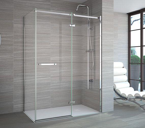 Deals On Hinged Doors At Qs Supplies This Merlyn 8 Series Frameless Hinge Inline Door Features Ultra Slim Hing Shower Doors Shower Remodel Fiberglass Shower