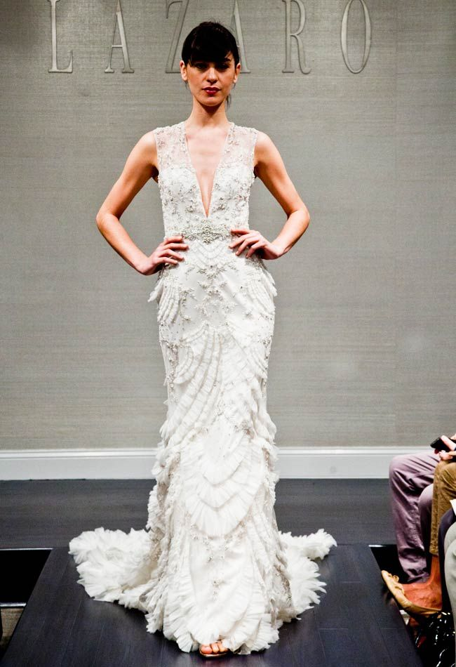 1000 images about lazaro on pinterest yes to the dress for How much is a lazaro wedding dress
