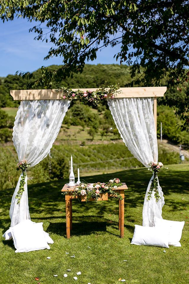 Wedding Arch, Ceremonial Table, Flower Decorations