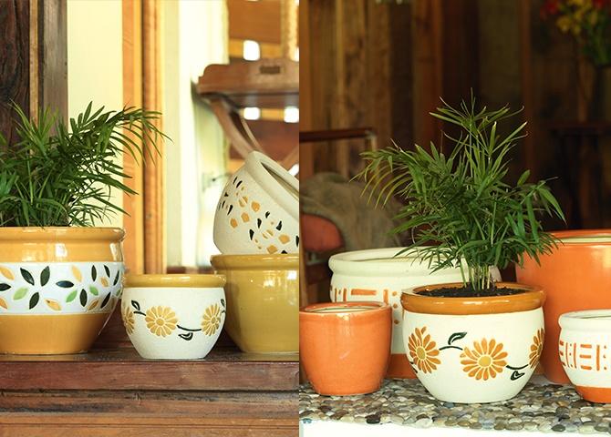Macetero cerámica variedad de diseños   SKU: 162303-6