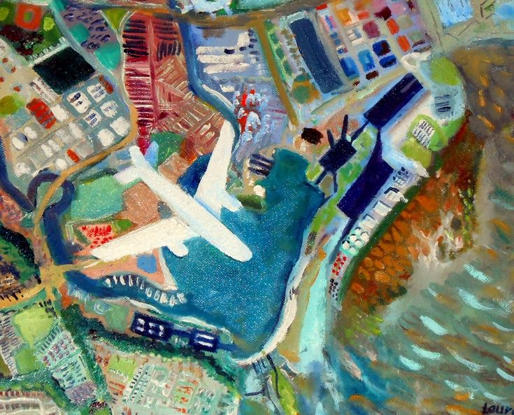"""ARTFINDER: Cardiff overview by laura perez ferrandiz - This painting is from the series """" The flight"""", this project is an ongoing project and more paintings are been produced. This is the City of Cardiff and Pena..."""