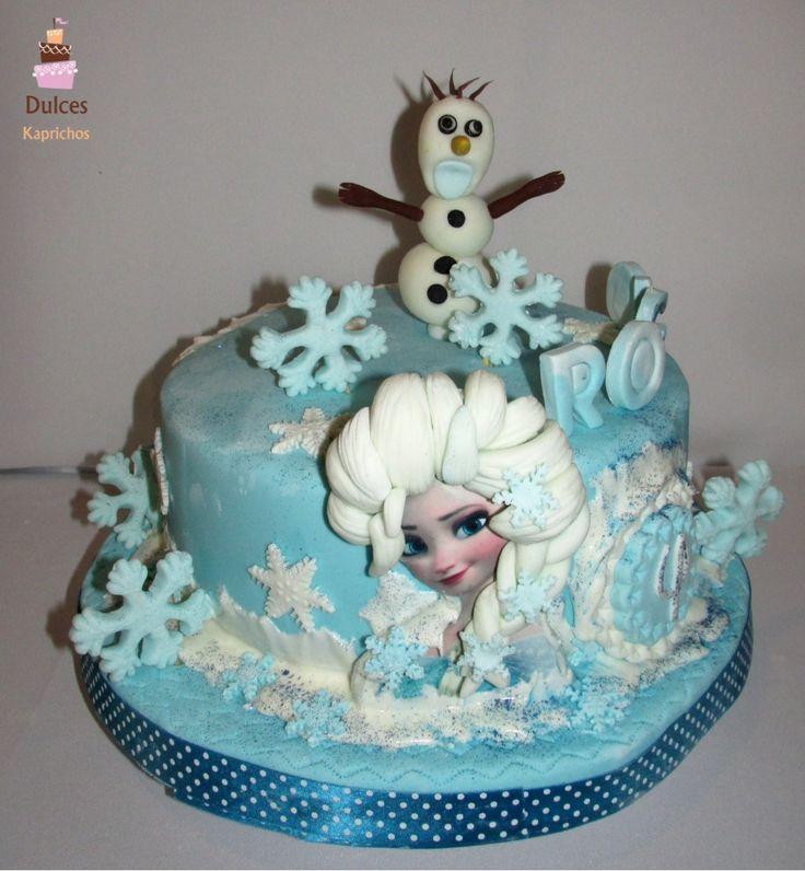 Torta Frozen #TortaFrozen #TortasDecoradas #DulcesKaprichos