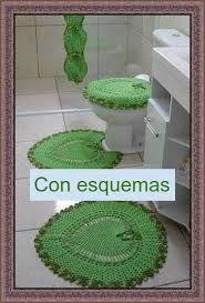 Resultado de imagen para juegos de baño tejidos a crochet con patrones                                                                                                                                                                                 Más